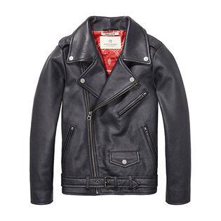 Junior Boys' [8-14] Leather Biker Jacket