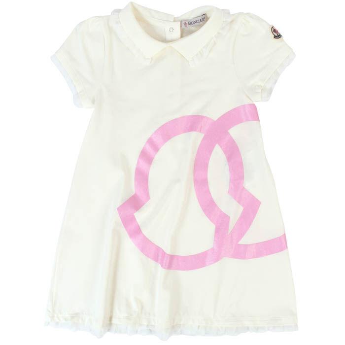 Robe à logo en tissu bouclette pour bébés filles [12M-3]