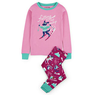 Girls' [2-10] Retro Ski Dogs Two-Piece Pajama Set