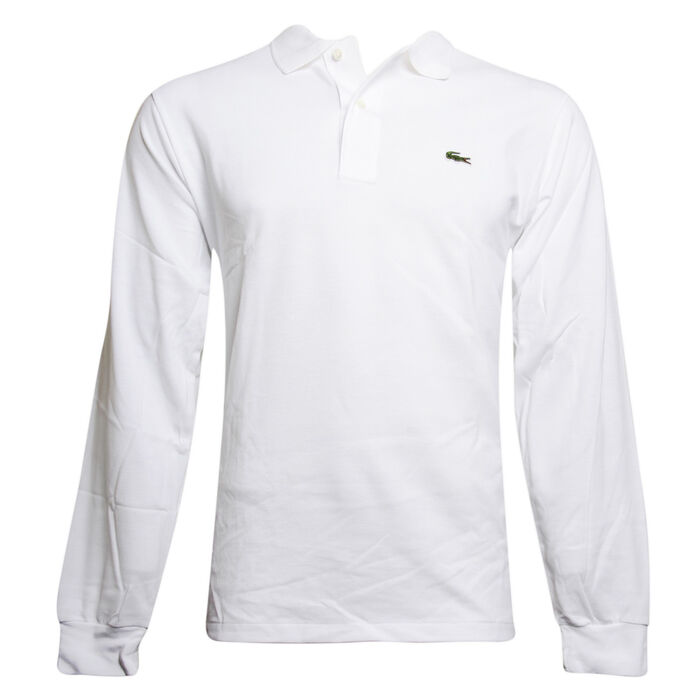 Men's Solid Long Sleeve Pique Knit Polo