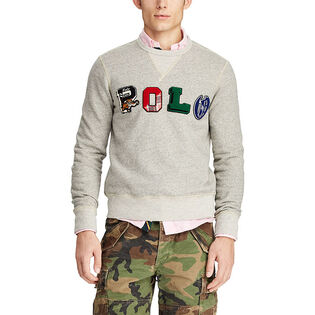Men's Polo Fleece Graphic Sweatshirt