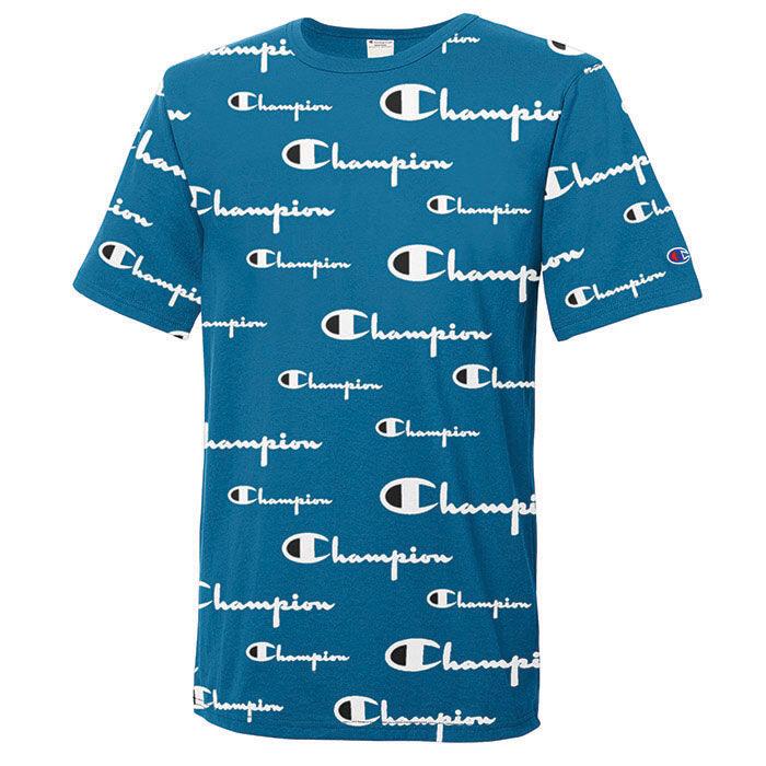 T-shirt à motif du logo intégral pour hommes