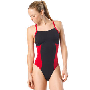 Women's Spark Splice Flyback One-Piece Swimsuit