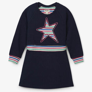 Girls' [2-6] Rainbow Star Rib Dress