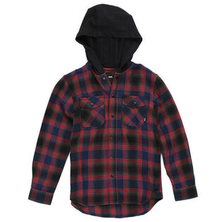Junior Boys' [8-16] Parkway Flannel Hooded Shirt