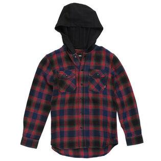 Chemise à capuchon en flanelle Parkway pour garçons juniors [8-16]