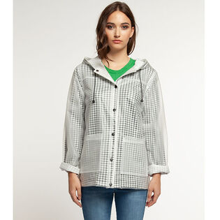 Women's Clear Gingham Raincoat