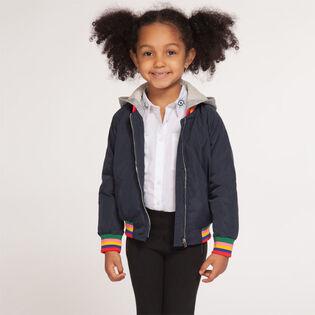 Girls' [2-6X] Rainbow Hooded Bomber Jacket