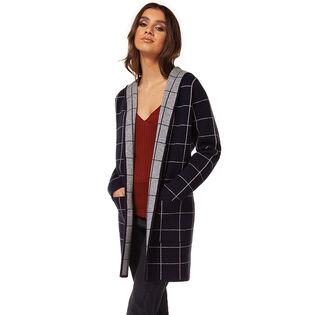 Women's Long Grid Cardigan