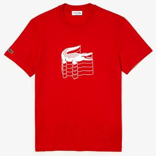 Men's Crocodile Embroidery Mini Pique T-Shirt
