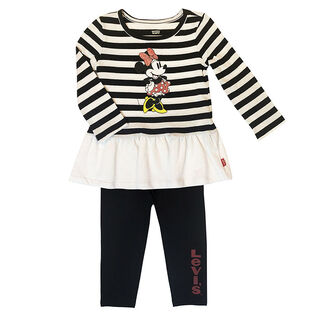 Girls' [4-6X] Disney® Minnie Top + Legging Two-Piece Set