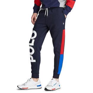Pantalon de jogging en molleton à motif pour hommes