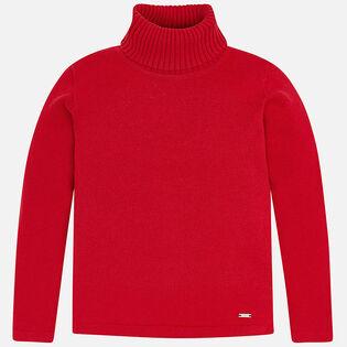 Girls' [3-6] Knit Turtleneck Sweater