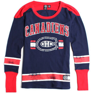 Women's Montreal Canadiens Waffle Knit Top