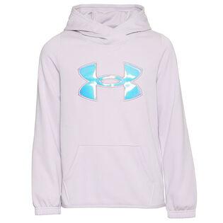 Chandail à capuchon Armour Fleece® Iridescent Big Logo pour filles juniors [7-16]