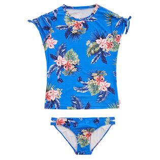 Junior Girls' [8-16] Retro Tropic Surf Two-Piece Swimsuit