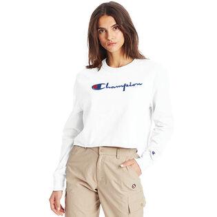 Women's Boyfriend Cropped Long Sleeve T-Shirt