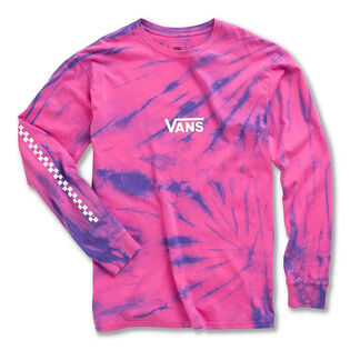 Men's Tie-Dye Checker Long Sleeve T-Shirt