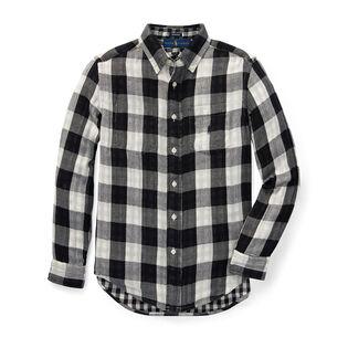 Junior Boys' [8-20] Reversible Plaid Cotton Shirt