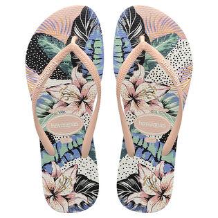 Women's Slim Animal Floral Flip Flop Sandal