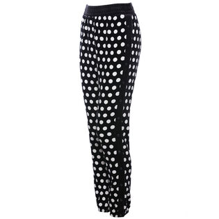 Women's Polka Dot Velour Track Pant
