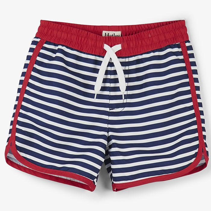 5485db3d21 Boys' [2-6] Nautical Stripes Swim Short | Hatley | Sporting Life Online