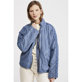 Women's Dolman Quilted Denim Jacket