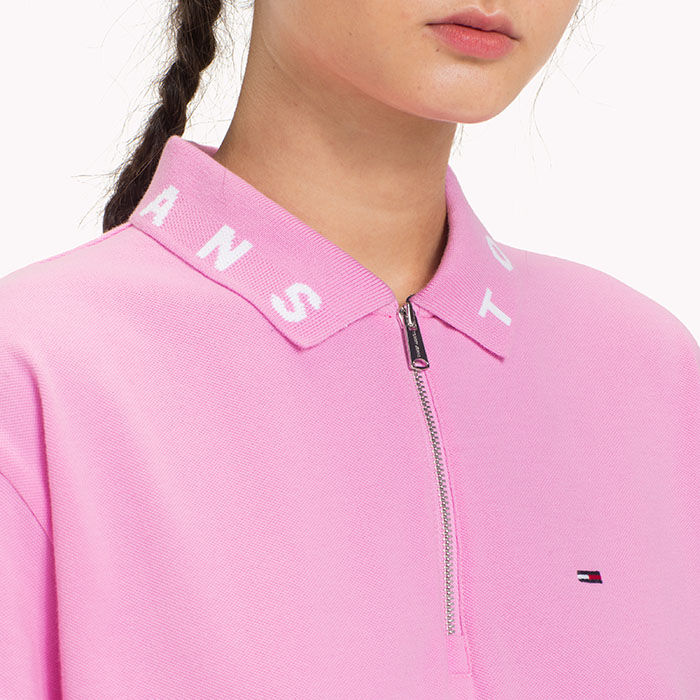 263b0a48dfa469 Women s Logo Collar Cropped Polo