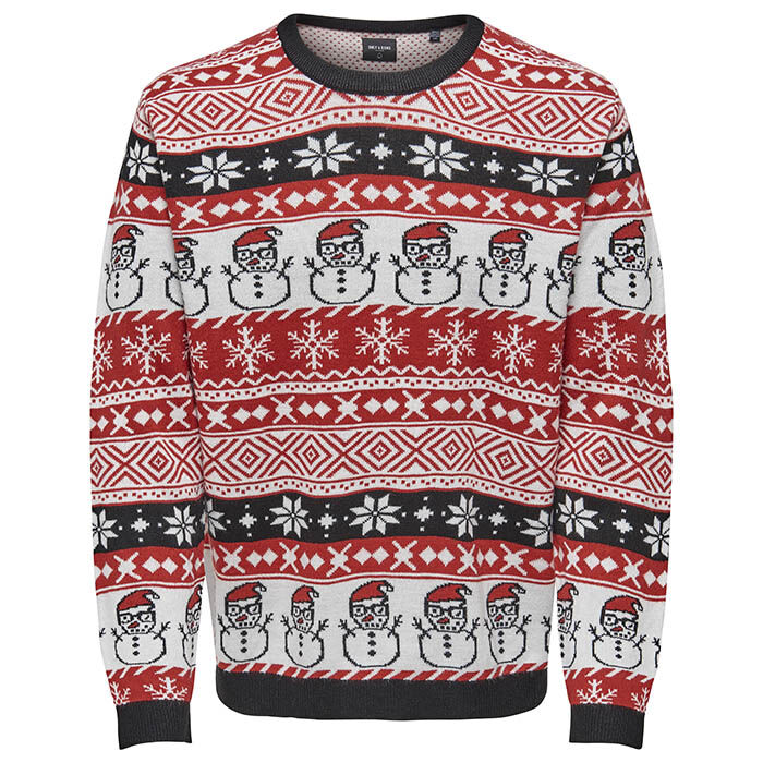 Men's Xmas Multi Knit Sweater
