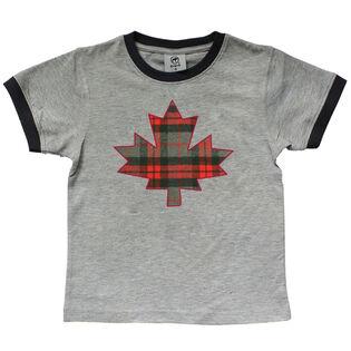 Kids' [2-6] Plaid Leaf T-Shirt