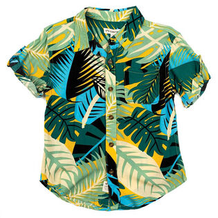 Boys' [5-8] Palm Pattern Shirt
