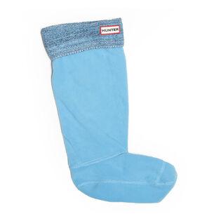 Mouline Knit Original Tall Boot Socks (Black/Blue)