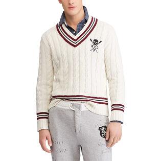 Men's Cotton-Blend Cricket Sweater