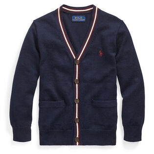 Boys' [5-7] Cotton V-Neck Cardigan