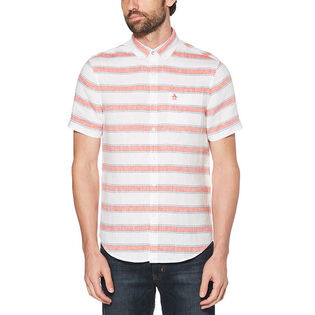 Men's Bold Stripe Linen Shirt