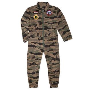 Juniors' [6-12] Camouflage One-Piece Jumpsuit
