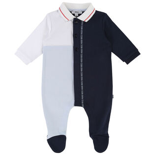 Baby Boys' [3-18M] Colourblocked One-Piece Coverall