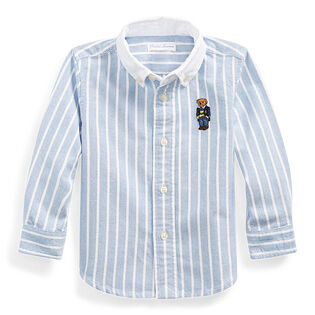 Baby Boys' [9-24M] Polar Bear Striped Oxford Shirt