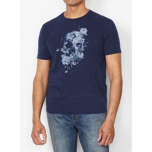 Men's Floral Skull T-Shirt