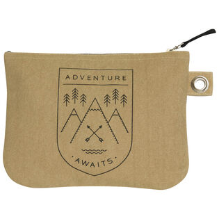 Adventure Awaits Large Zipper Pouch