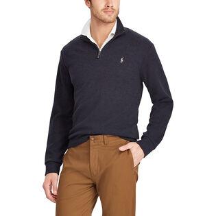 Men's Double-Knit Half-Zip Pullover Sweater