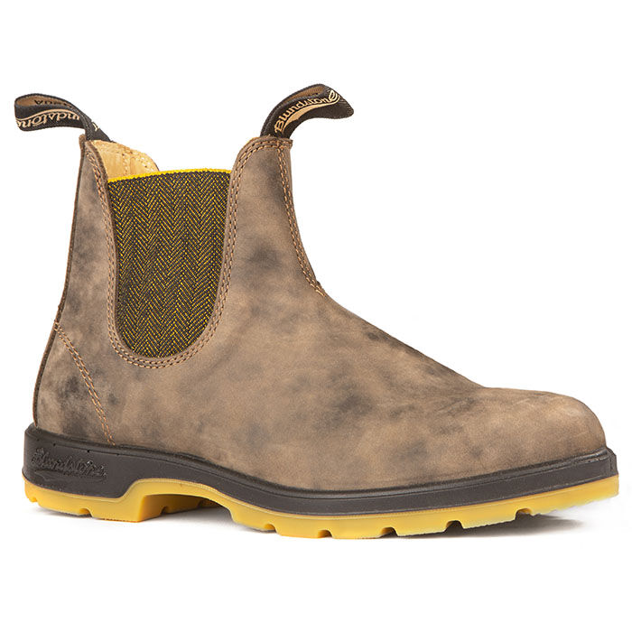 #1944 Leather Lined In Rustic Brown With Mustard Two-Tone Sole