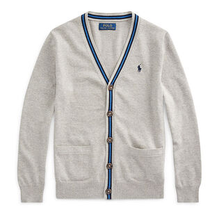 Junior Boys' [8-20] Cotton V-Neck Cardigan