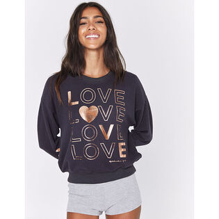 Women's Love Malibu Hacci Crew Sweatshirt
