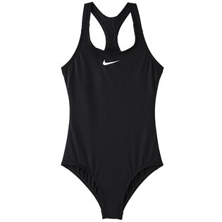 Junior Girls' [7-16] Solid Racerback One-Piece Swimsuit