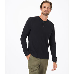 Men's TreeWaffle Long Sleeve Henley Top