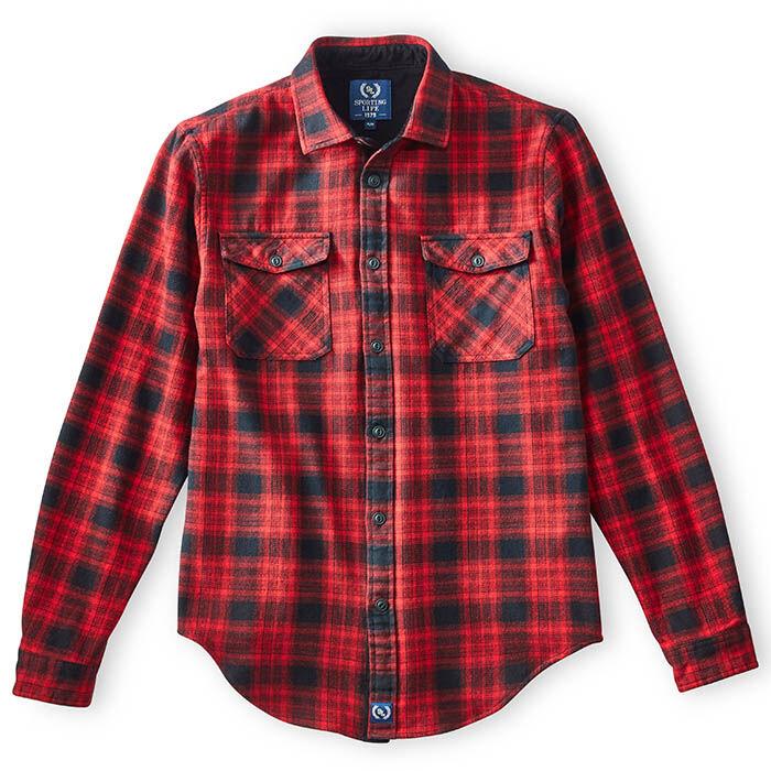 Men's Ombre Flannel Flap Pocket Shirt