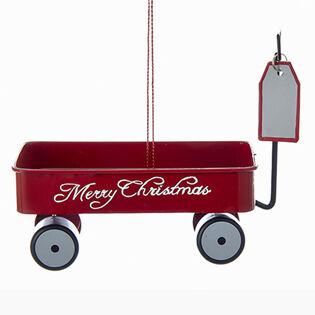 Merry Christmas Wagon Ornament