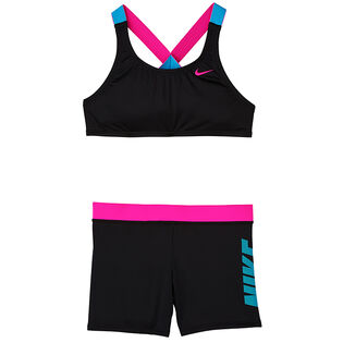 Junior Girls' [7-16] Rift Prism Crossback Sport Two-Piece Bikini