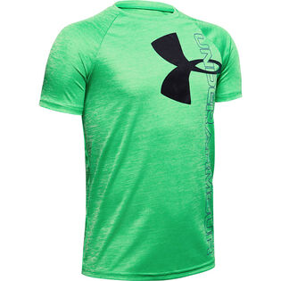 Junior Boys' [8-16] UA Tech™ Split Logo Hybrid T-Shirt